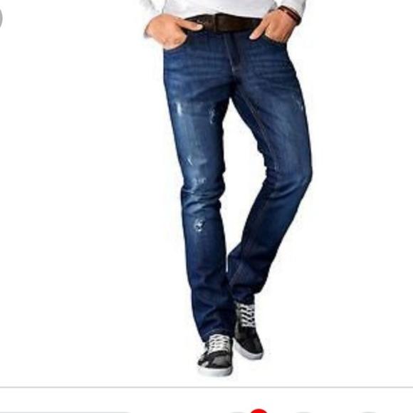 69a6f1b5d1fa LIVERGY Jeans | Mens Slim Fit Straight Leg Distressed | Poshmark